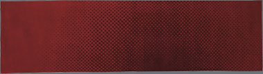 Surya 3x11 in maroon on red